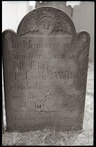 Gravestone for Silvester Wells (1783), Wethersfield Village Cemetery