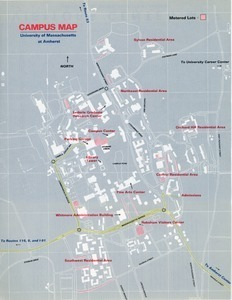 Campus Map, University of Massachusetts Amherst