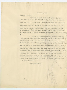 Letter from W. E. B. Du Bois to John H. Biddle