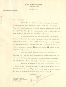 Letter from Abram Harris to W. E. B. Du Bois