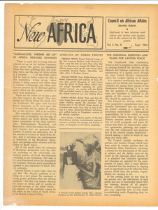 New Africa volume 3, number 8