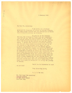 Letter from W. E. B. Du Bois to Foreign Affairs