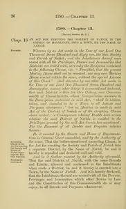 1780 Chap. 0013 An Act For Erecting The District Of Natick, In The County Of Middlesex, Into A Town, By The Name Of Natick.