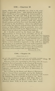 1780 Chap. 0018 An Act For Annexing That Part Of Lancaster, (Called The Southerly Part) To The Town Of Shrewsbury.