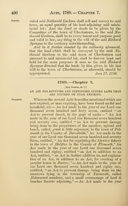 1789 Chap. 0007 An Act For Reviving And Continuing Sundry Laws That Are Expired Or Near Expiring.