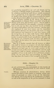 1789 Chap. 0011 An Act Authorizing The Settlement Of The Claims Of Executors & Administrators In The Probate Court By Referrees.