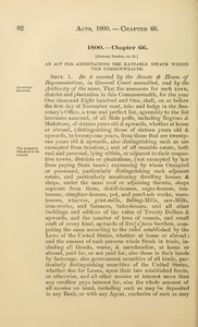 1800 Chap. 0066 An Act For Ascertaining The Rateable Estate Within This Commonwealth.
