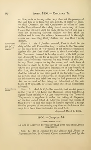 1800 Chap. 0074 An Act In Addition To The Several Acts For Regulating Elections.