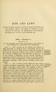 1801Chap. 0001 An Act Altering The Times Of Holding The Courts In The Counties Of Hampshire And Berkshire.