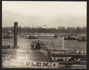 Olympia, Glen & steamers in naval parade, New York harbor, New York, New York, September 28, 1899