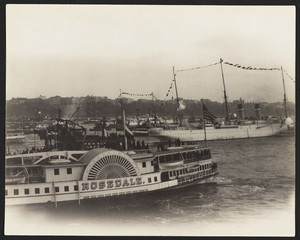 Steamers & Olympia, New York harbor, New York, New York, September 28, 1899