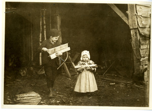 Bringing in wood, Chesterfield, Massachusetts