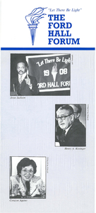 Ford Hall Forum lecture program, undated