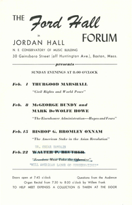 Ford Hall Forum program, February 1928