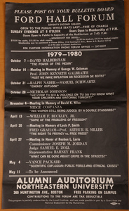 Poster for Ford Hall Forum Season, 1978-1979