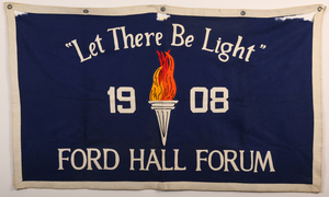 Ford Hall Forum felt banner, undated