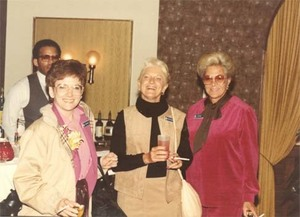 Evelyn Moakley at a social event with other members of a congressional delegation to China