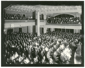 Photograph of Ford Hall Forum audience, undated
