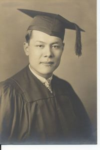 Harry Hom Dow's graduation portrait
