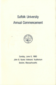 1980 Suffolk University Annual Commencement Program