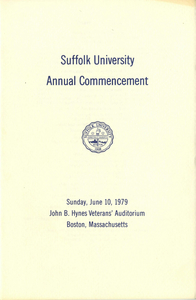 1979 Suffolk University Annual Commencement Program