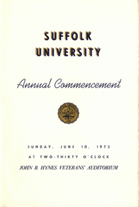 1973 Suffolk University Annual Commencement Program