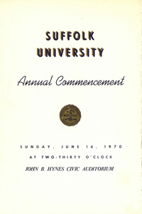 1970 Suffolk University Annual Commencement Program