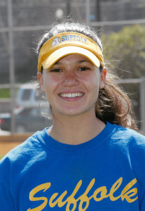 Suffolk University Women's softball player Erin Pagel, 2001