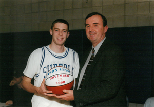 Suffolk University basketball player Dan Florian, 2000