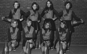1968-1969 Suffolk University cheerleading team