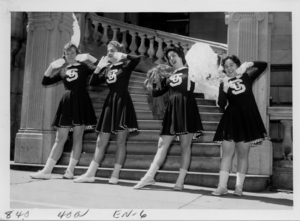 1961 Suffolk University cheerleading team