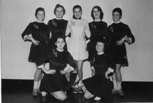 1958 Suffolk University cheerleading team