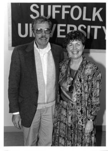 Portrait of Jim Coleman and Suffolk University Professor Judy Dushku (CAS, Government)