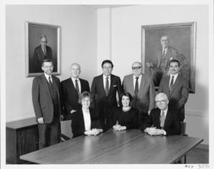 Members of Suffolk University's administration