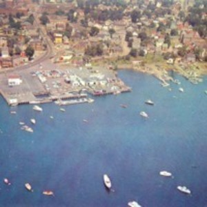 Aerial view of Beverly, showing the waterfront, Beverly, Mass.