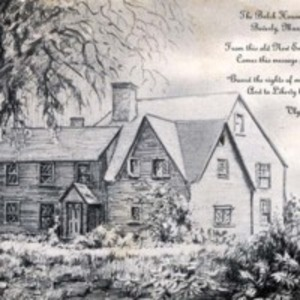 The Balch House, built 1638, Beverly, Massachusetts