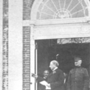 Augustus P. Loring and General Edwards opening the Beverly Farms Branch Library 1915