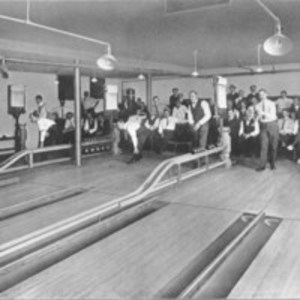 Bowling at the country club alleys