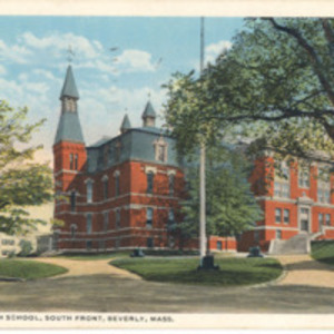 Beverly High School, south front, Beverly, Mass.