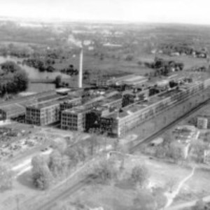 Aerial view of the United Shoe Machinery Company plant