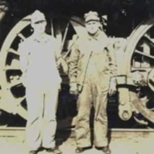 B&M Railroad fireman and engineer