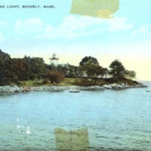Hospital Point and light, Beverly, Mass.