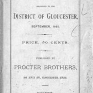 List of vessels belonging to the district of Gloucester (1885)