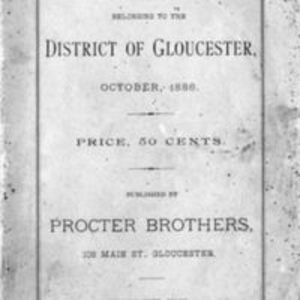 List of vessels belonging to the district of Gloucester (1886)