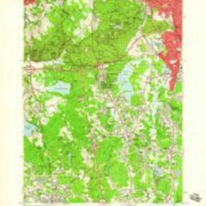 Blue Hills quadrangle, Massachusetts [1958] / Mapped, edited, and published by the Geological Survey ; [prepared in cooperation with the Commonwealth of Massachusetts Department of Public Works]