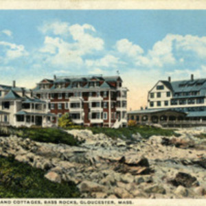 The Mooreland and cottages, Bass Rocks, Gloucester, Mass.