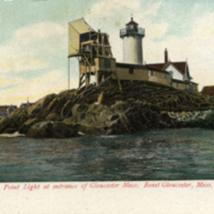 Eastern Point Light at the entrance of Gloucester, Mass. Eeast Gloucester, Mass.