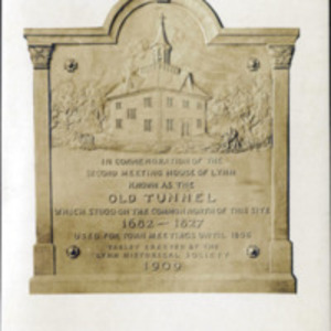 Tablet commemorating the old tunnel