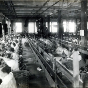 A.E. Little and Company, shoe manufacturer; stitching room, 70 Blake Street: View 2