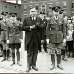 Congressman Connery's funeral: Governor Hurley with Adj. Gen. Charles H. Cole, June 21, 1937